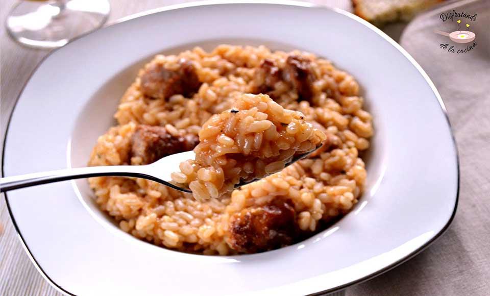 Receta de arroz de carne rápido