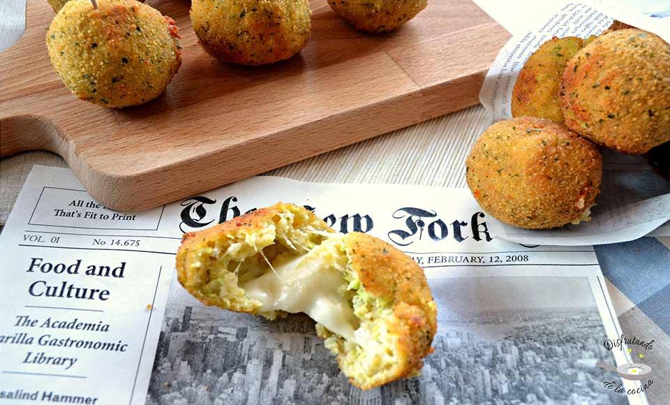 Receta de bolitas de calabacín y queso
