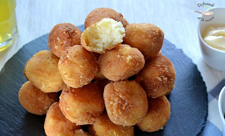 Receta de bolitas de patata y queso