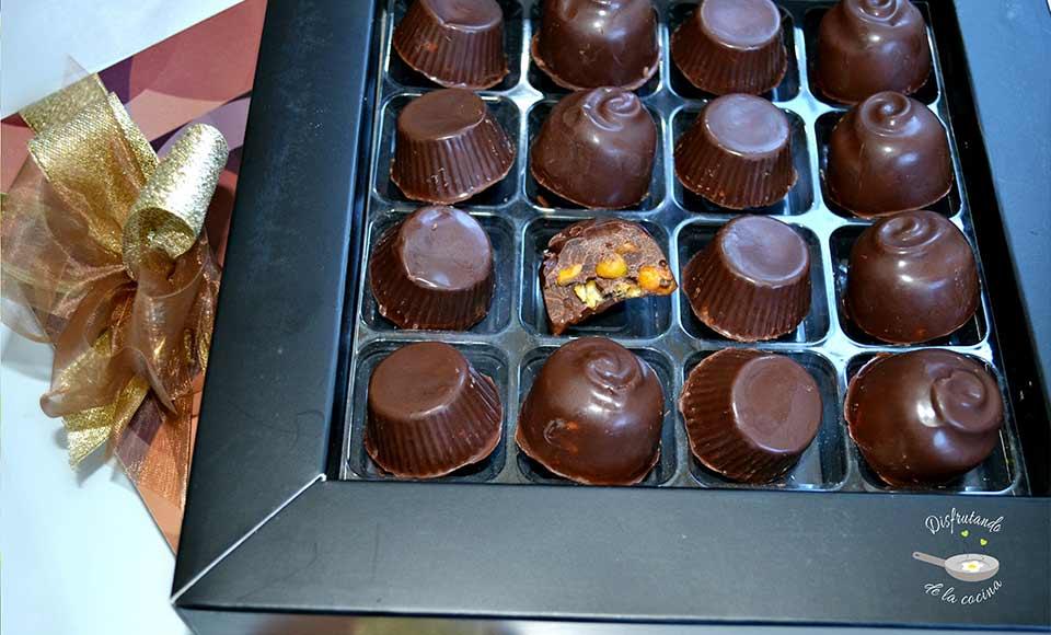 Receta de bombones de chocolate y kikos