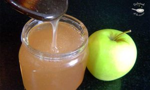 Brillo para pasteles, gelatina de manzana (Receta básica)