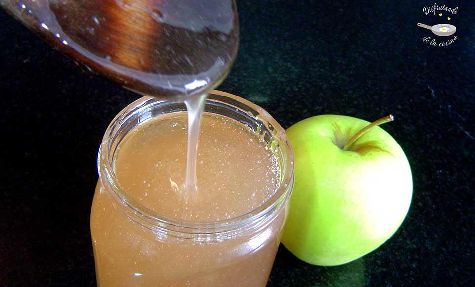 Receta de brillo para pasteles o gelatina de manzana casera