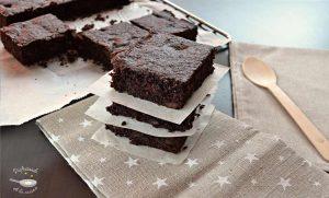 Brownie de calabacín y chocolate