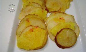 Carpaccio de frutas al azafrán