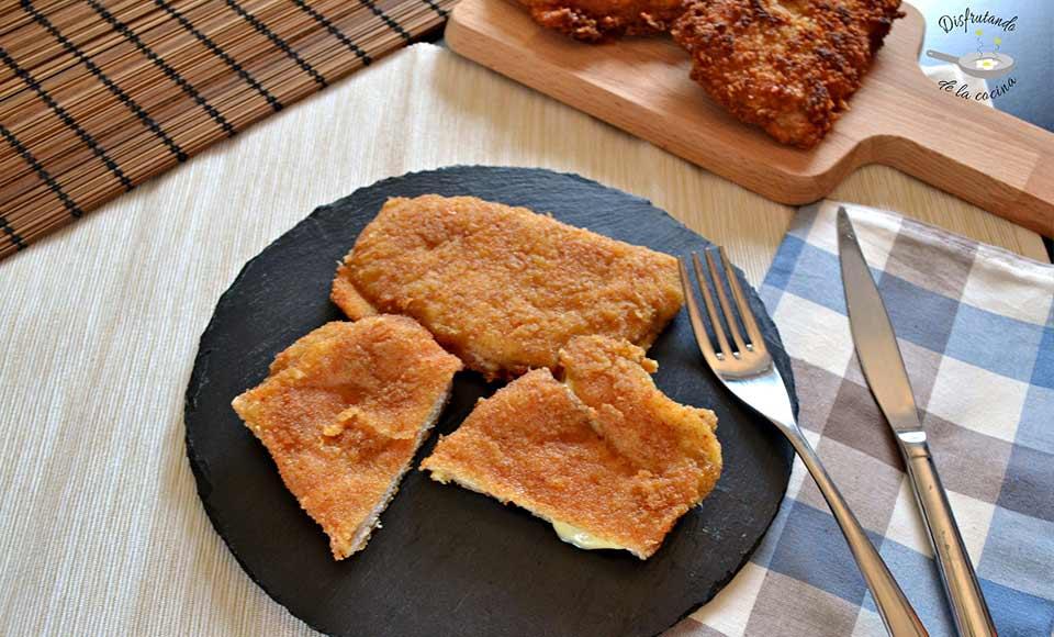 Receta de cordon bleu de lomo de cerdo, jamón y queso