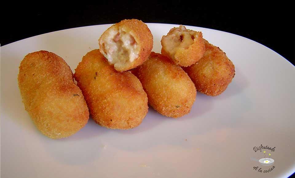 Receta de croquetas caseras de jamón y pollo