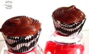 Cupcakes de Nocilla o crema de chocolate