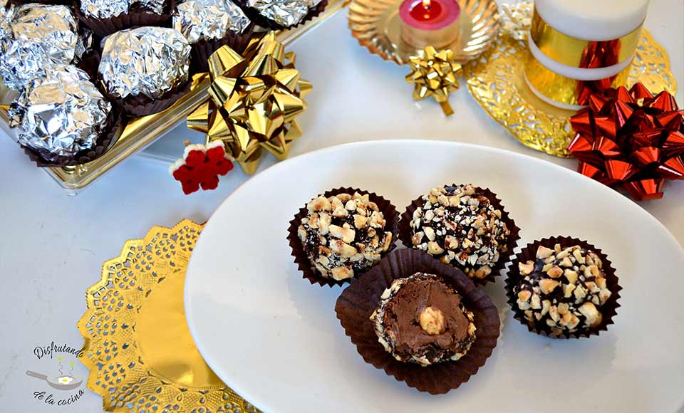 Receta de bombones Ferrero Rocher caseros