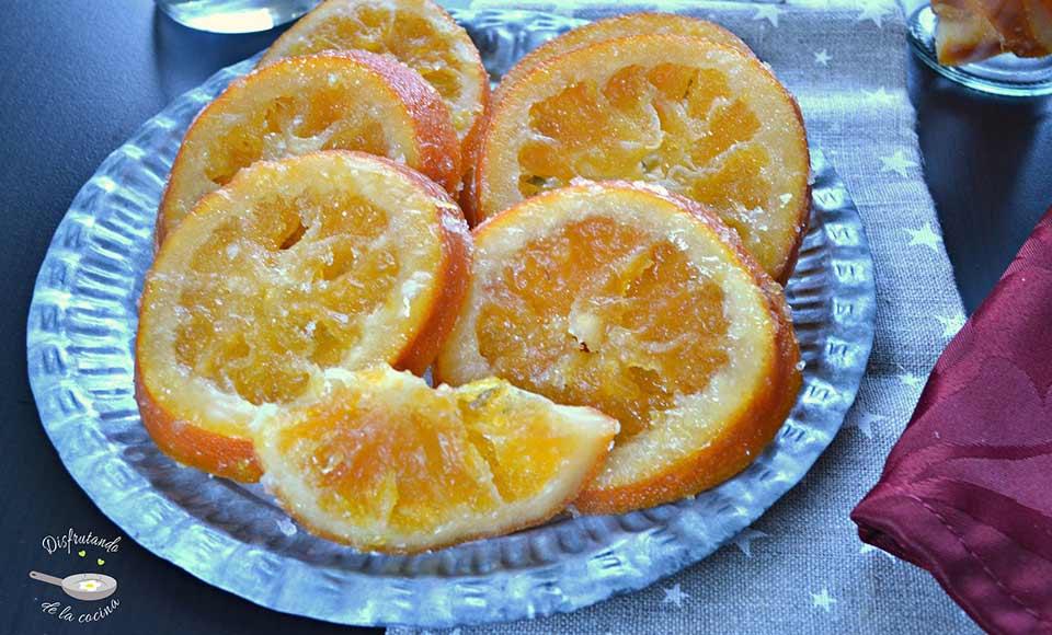 Receta de naranjas escarchadas -Fruta escarchada