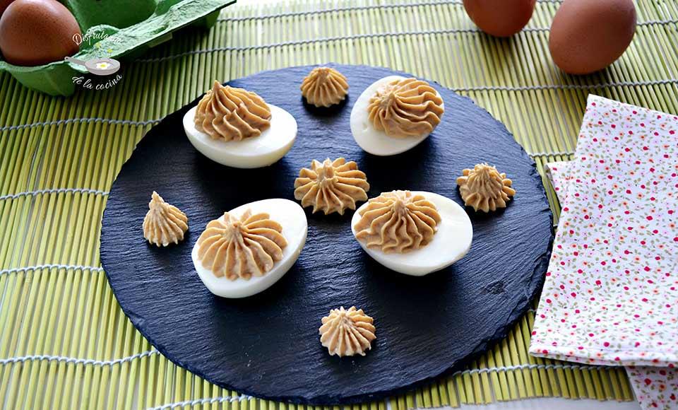 Receta de huevos rellenos con atún y mayonesa