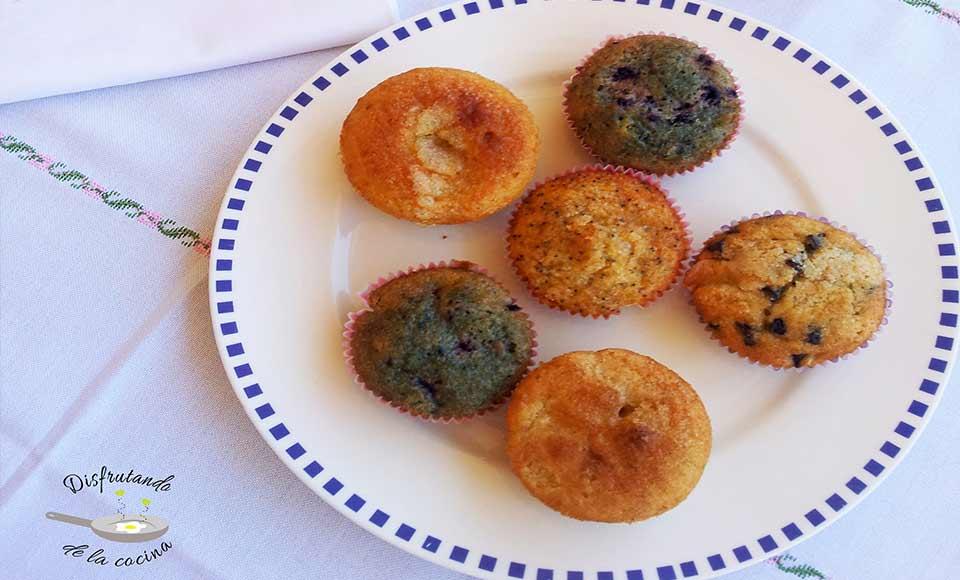 Receta de magdalenas de distintos sabores caseras
