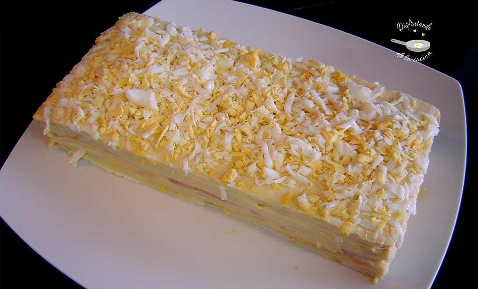 Receta de pastel de atún frío