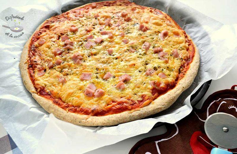 Receta de masa de pizza integral