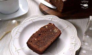 Plum cake de chocolate y nueces (Receta Postre fácil)