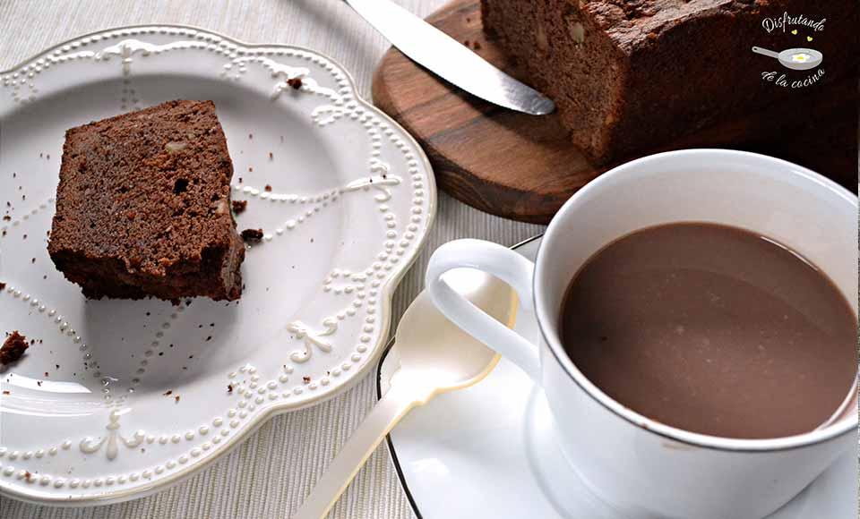 Receta de plumcake de chocolate con nueces casero