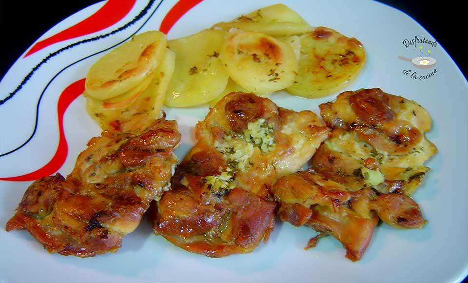 Receta de pollo al horno con patatas casero