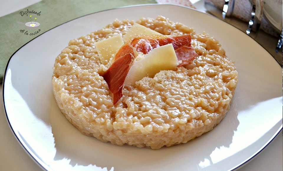 Receta de risotto alla parmigiana