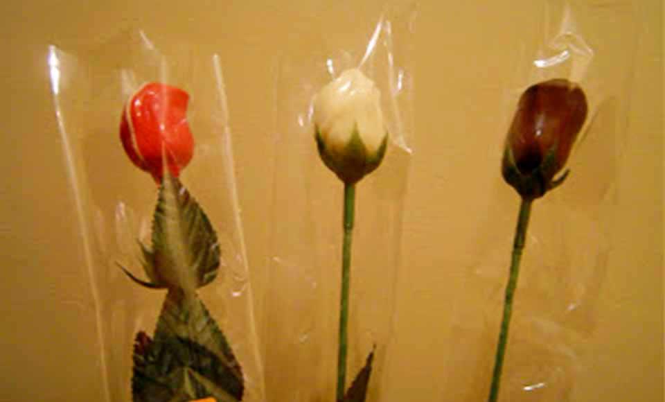 Rosas de Sant Jordi de chocolate