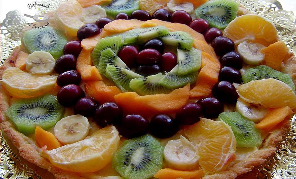Receta de tartaleta de frutas con crema sin gluten