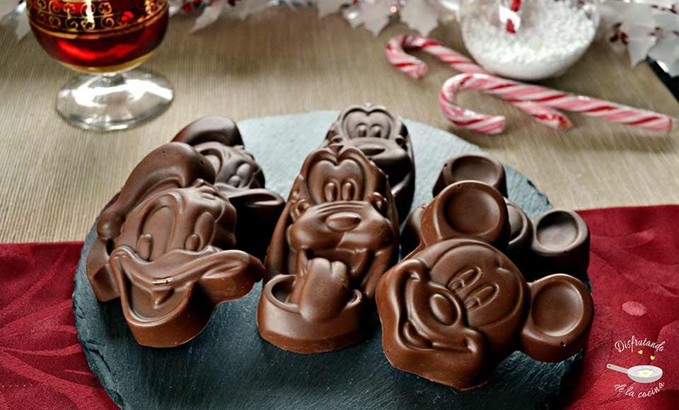 Receta de turrón de chocolate crujiente forma figuritas