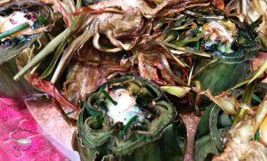 Alcachofas al horno con huevos de codorniz