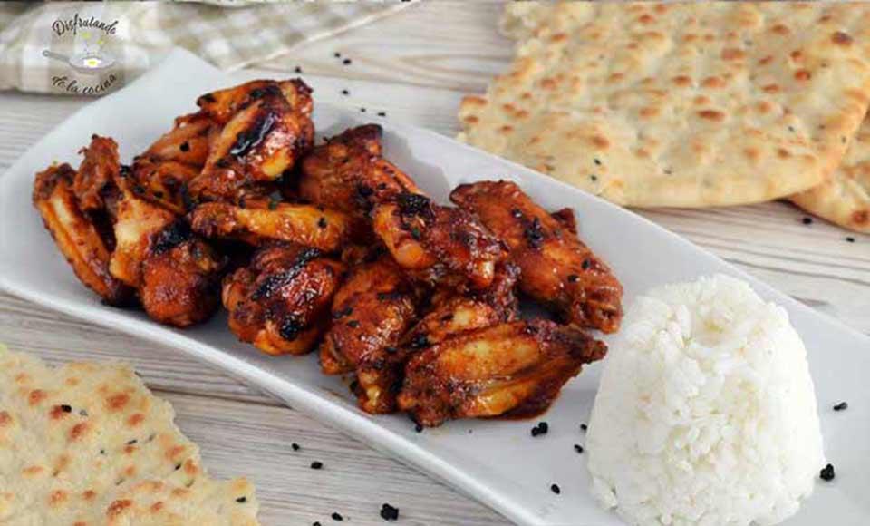 Receta de alitas de pollo tandoori