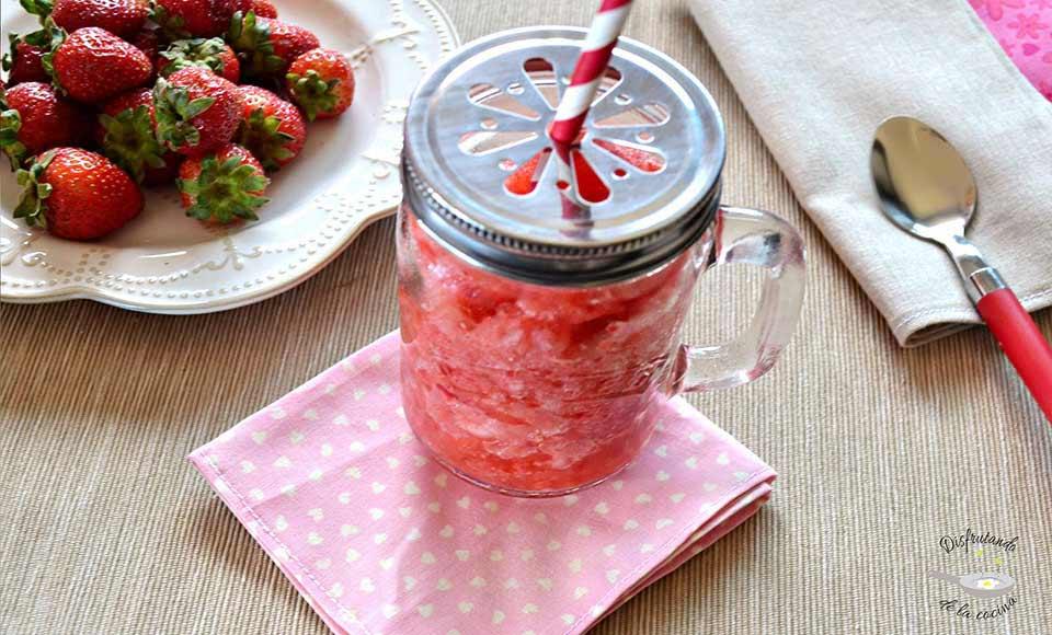 Receta de granizado de fresas