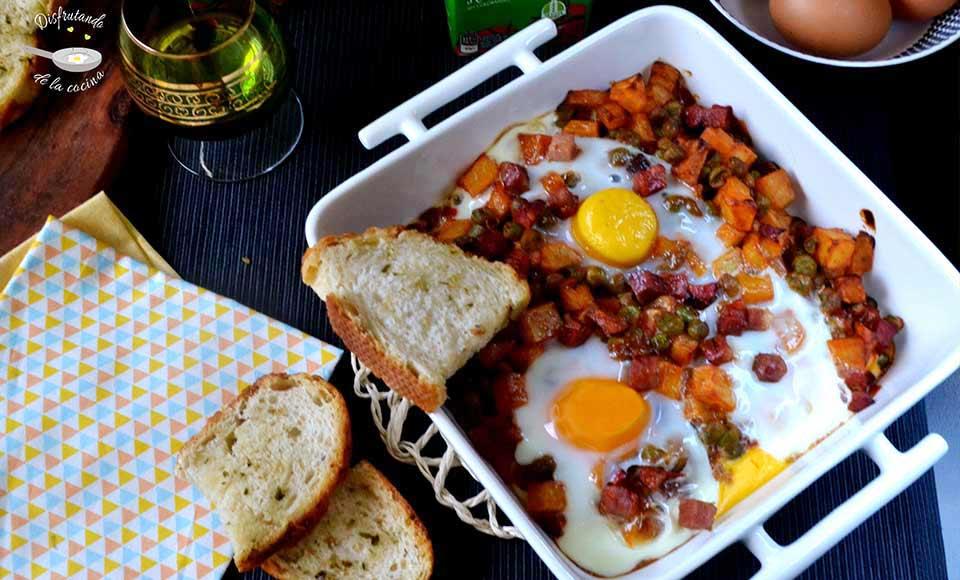 Receta de huevos a la flamenca