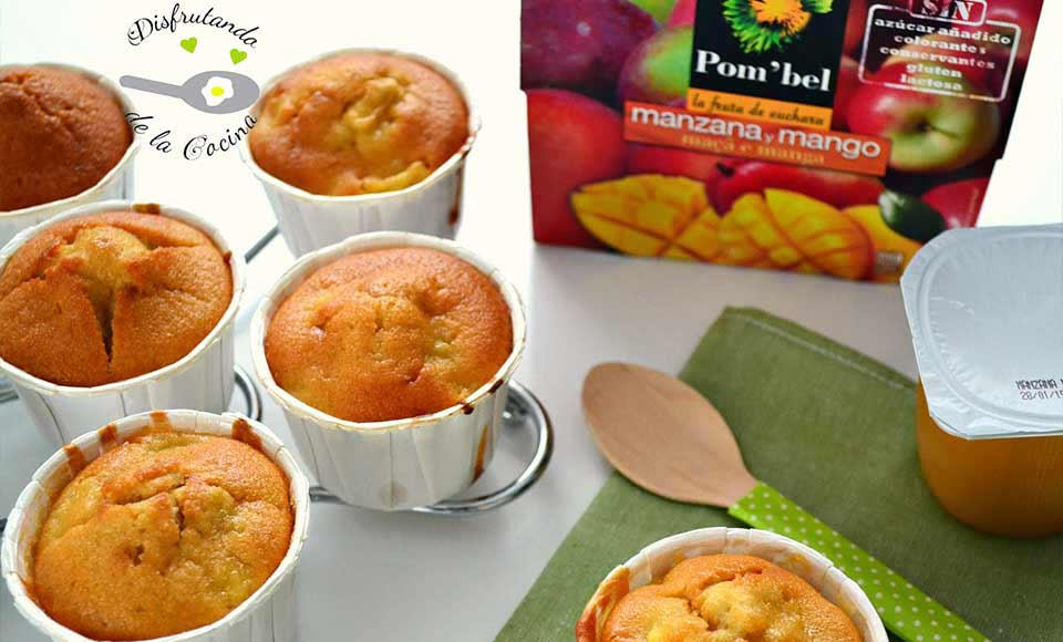 Receta de magdalenas de manzana y mango