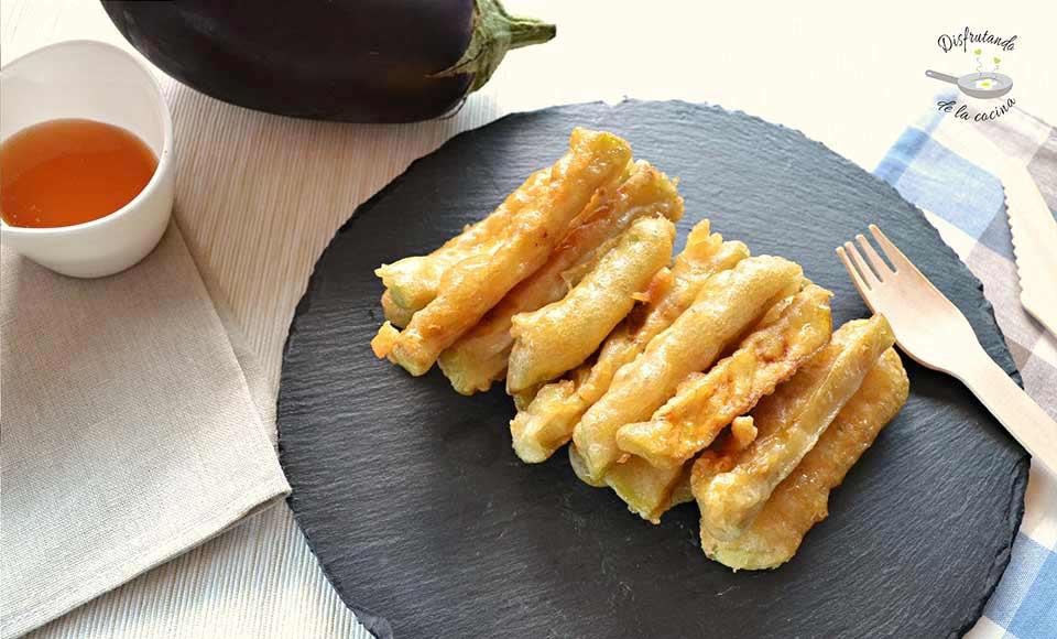 Receta de palitos de berenjena y miel