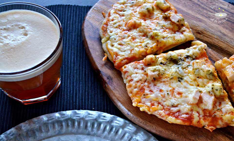 Receta de pizza sin horno, a la sartén