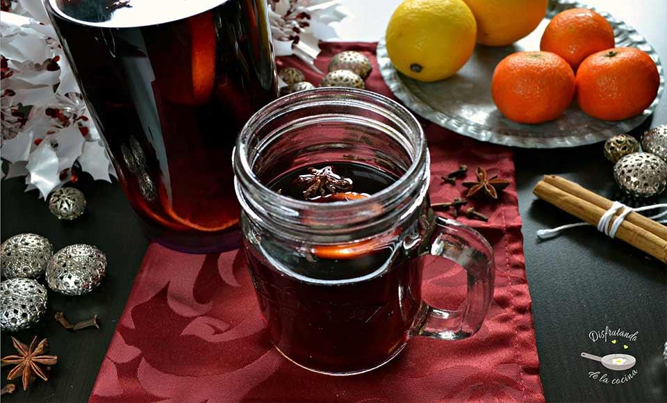 Receta de vino especiado caliente -Gluhwein