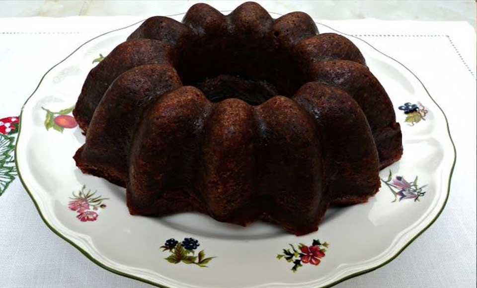 Receta de bizcocho de chocolate y pistachos casero