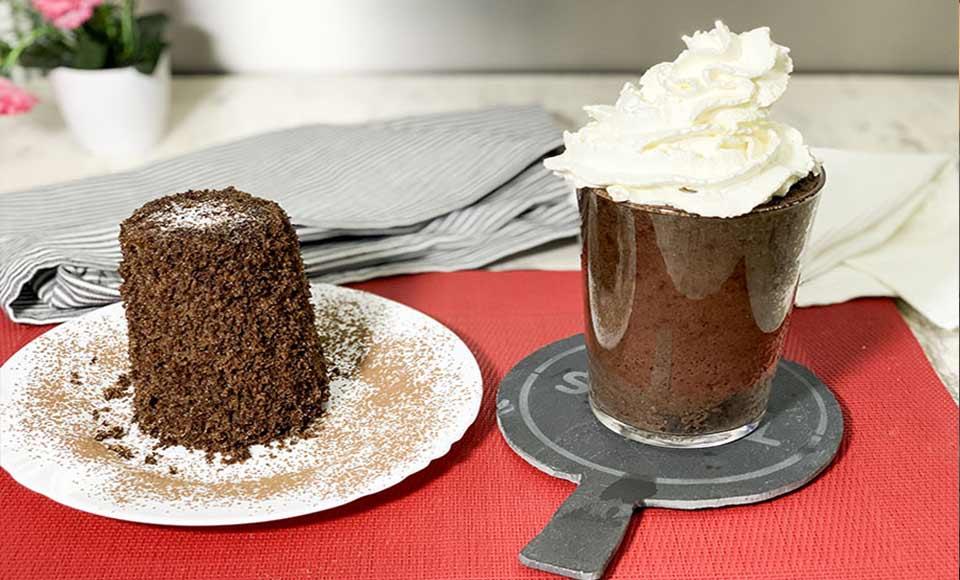 Receta de mug cake de chocolate casero