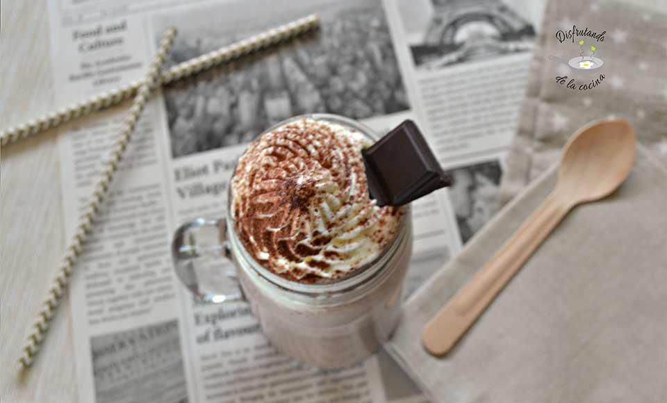 Receta de batido de chocolate y Baileys