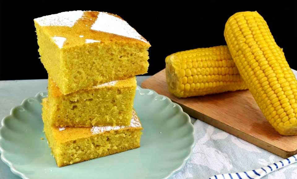 Receta de bizcocho de maíz dulce o elote casero