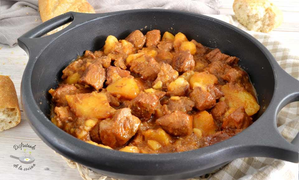 Receta de ternera guisada con patatas