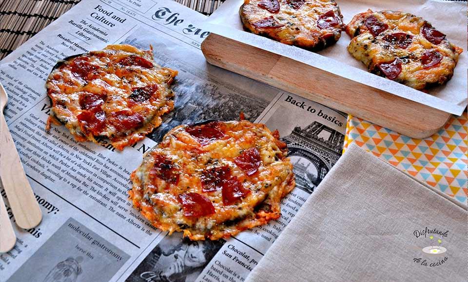 Receta de pizza de berenjenas casera