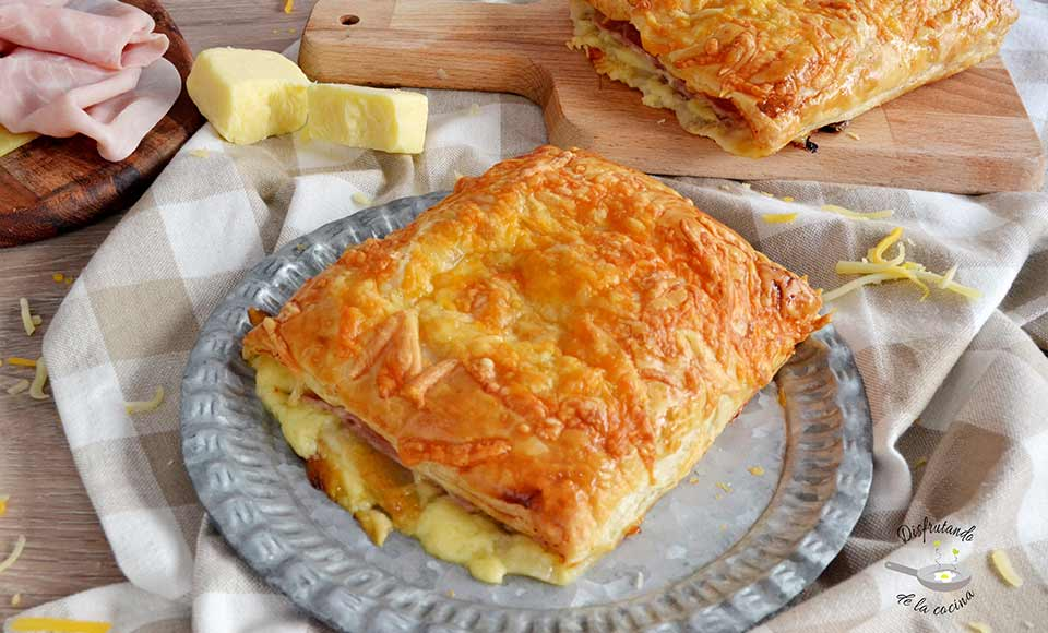 Receta de napolitana de jamón y queso casera