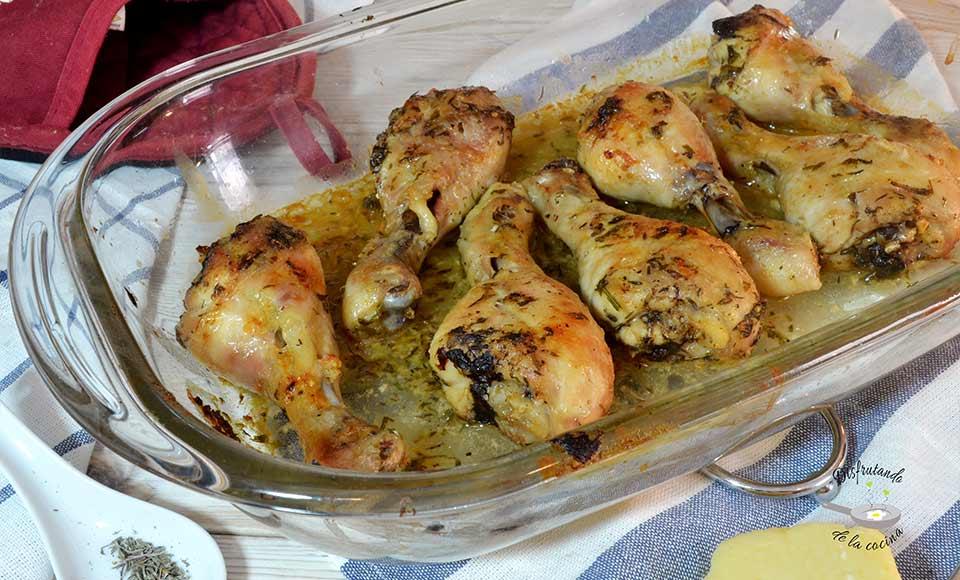 Receta de pollo al horno con queso