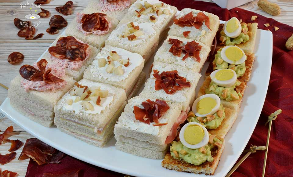 Receta de canapés de pan de molde