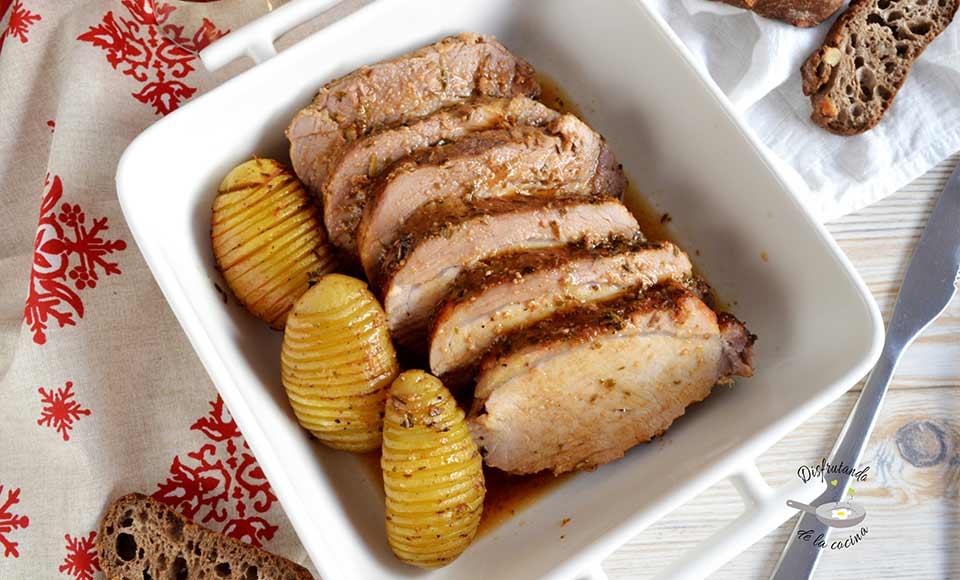 Receta de Lomo de cerdo al horno