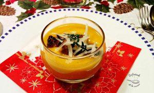 Crema de calabaza con setas y queso manchego (Receta fácil)