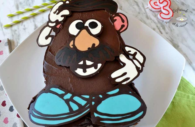 Receta de pastel de chocolate de Mr. Potato