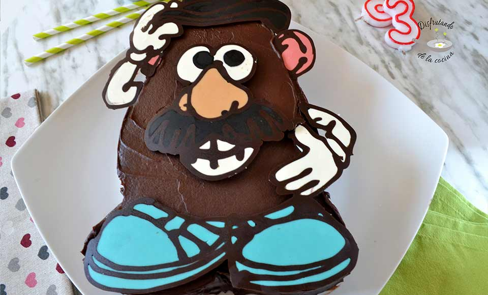 Receta de pastel de chocolate de Mr. Potato
