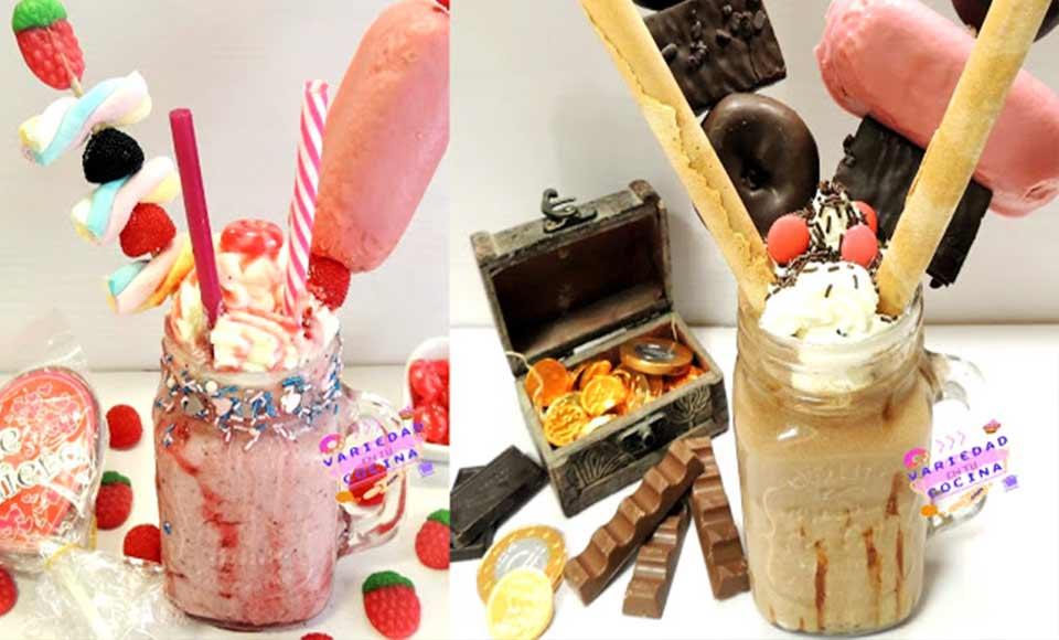 Receta de freak shake de frutos rojos o chocolate