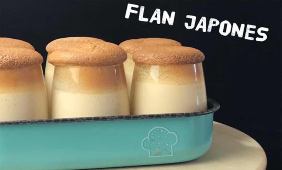 Receta de flan japonés