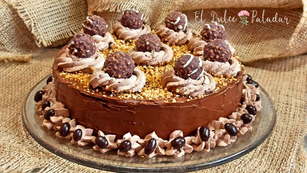 Receta de tarta de obleas y chocolate