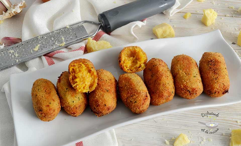 Recetas de croquetas de calabaza y queso caseras