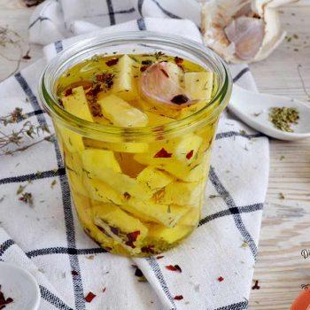 Receta de queso marinado en aceite